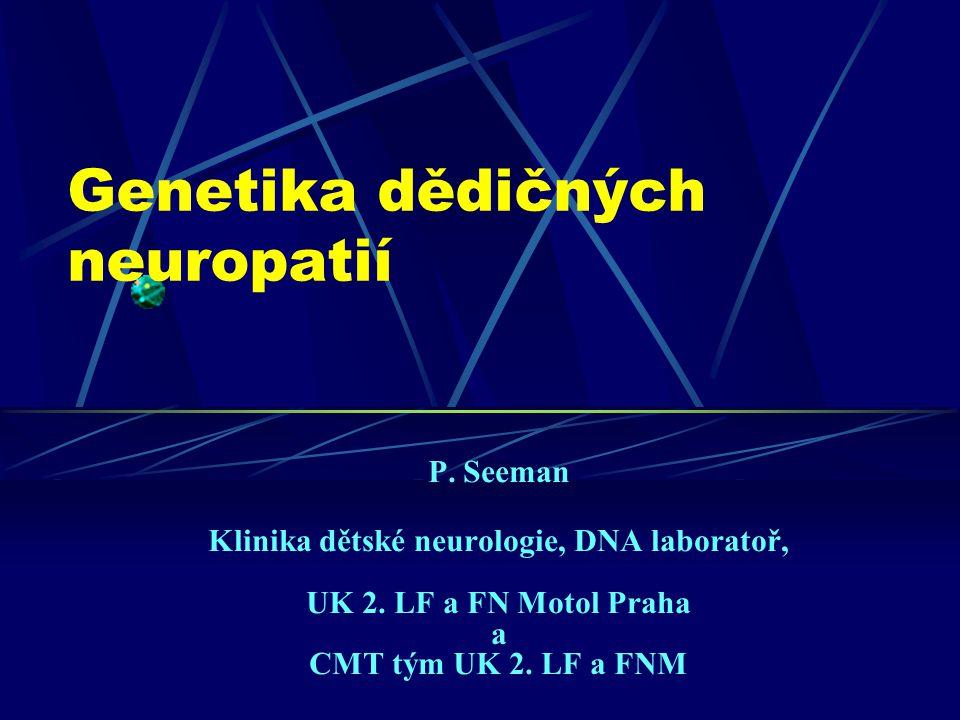 Genetika dědičných neuropatií