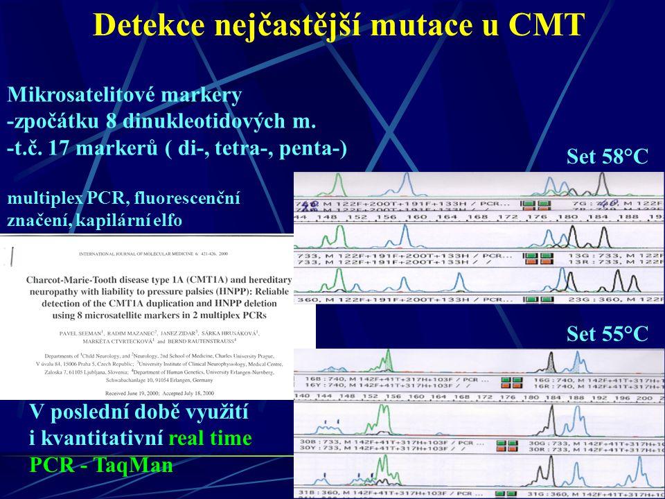 Detekce nejčastější mutace u CMT