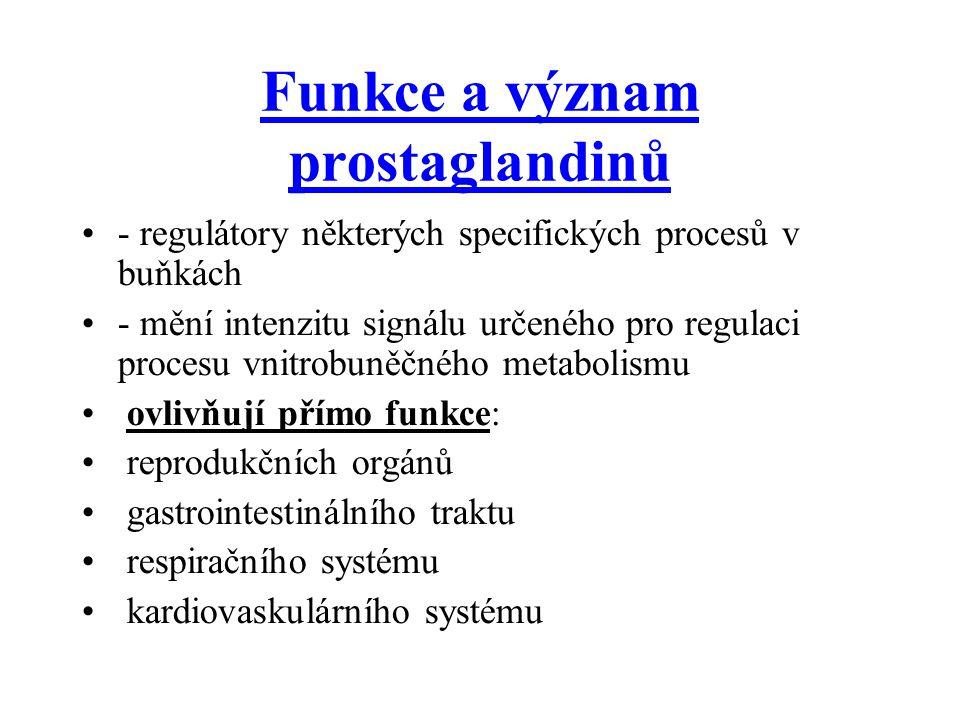 Funkce a význam prostaglandinů
