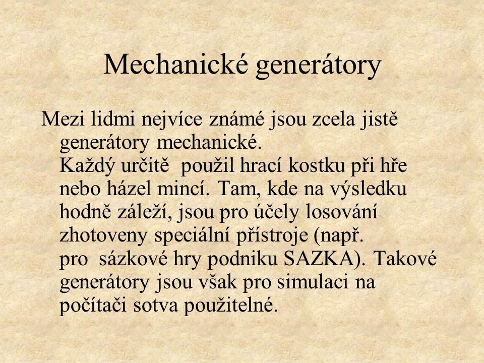 Mechanické generátory