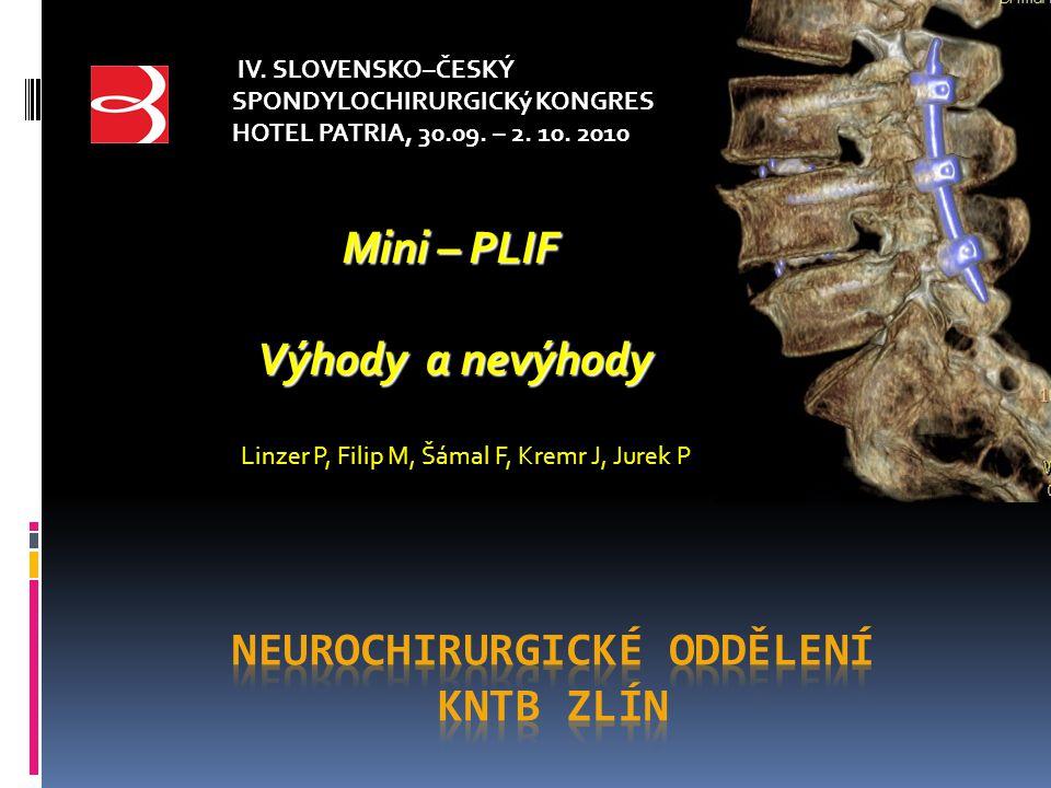 Neurochirurgické oddělení KNTB Zlín