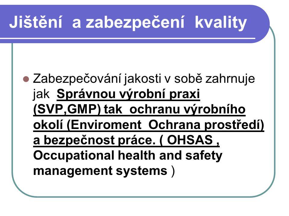 Jištění a zabezpečení kvality