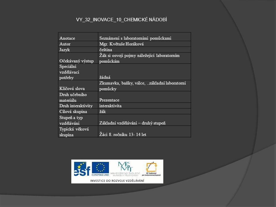 VY_32_INOVACE_10_CHEMICKÉ NÁDOBÍ