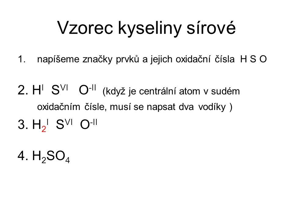 Vzorec kyseliny sírové