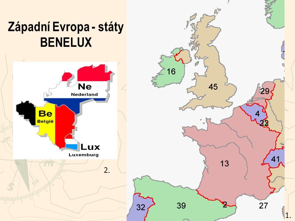 Západní Evropa - státy BENELUX