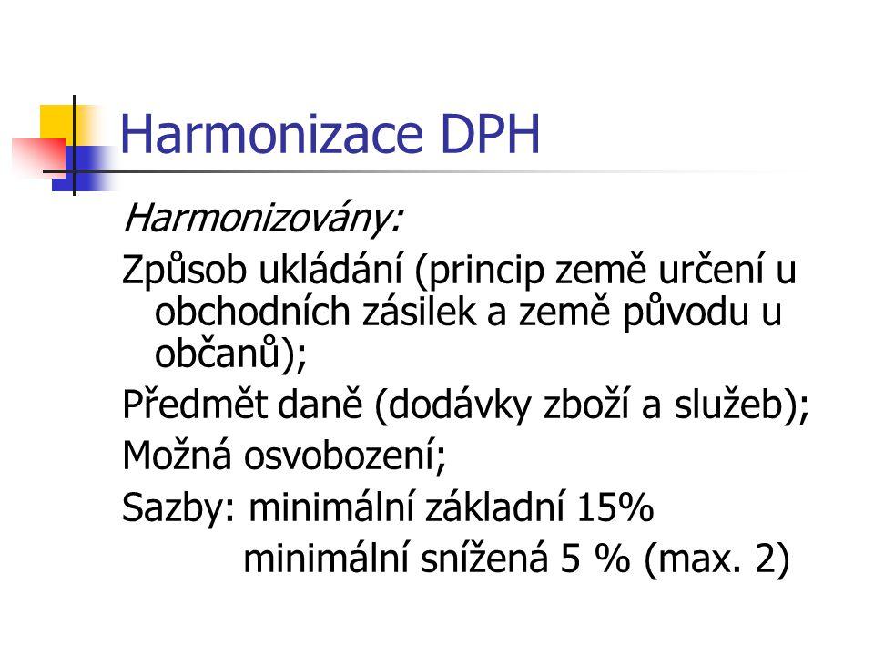 Harmonizace DPH Harmonizovány: