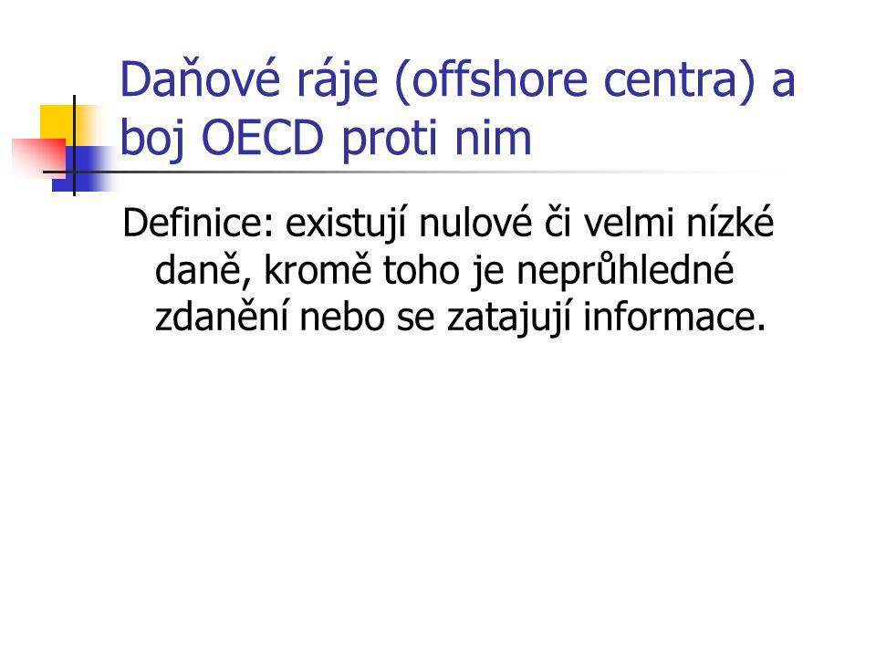 Daňové ráje (offshore centra) a boj OECD proti nim