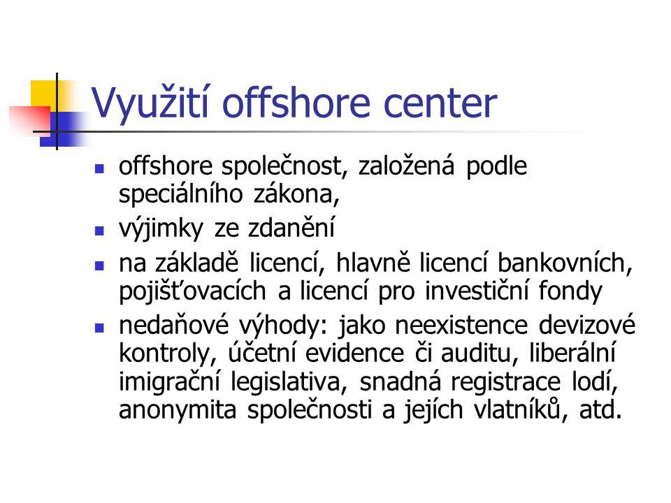 Využití offshore center