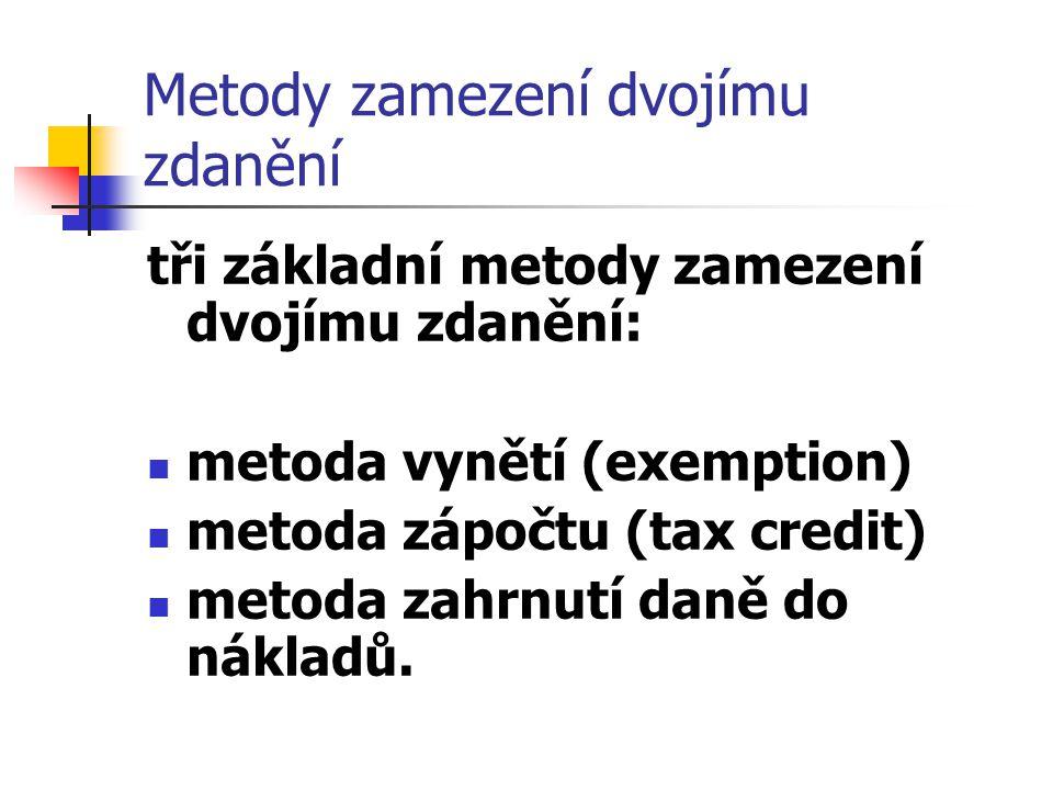 Metody zamezení dvojímu zdanění