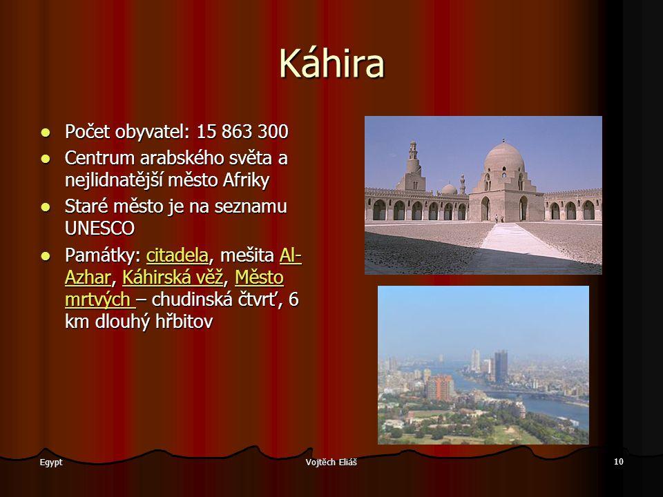 Káhira Počet obyvatel: 15 863 300