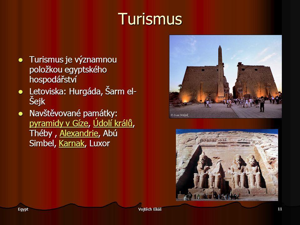 Turismus Turismus je významnou položkou egyptského hospodářství