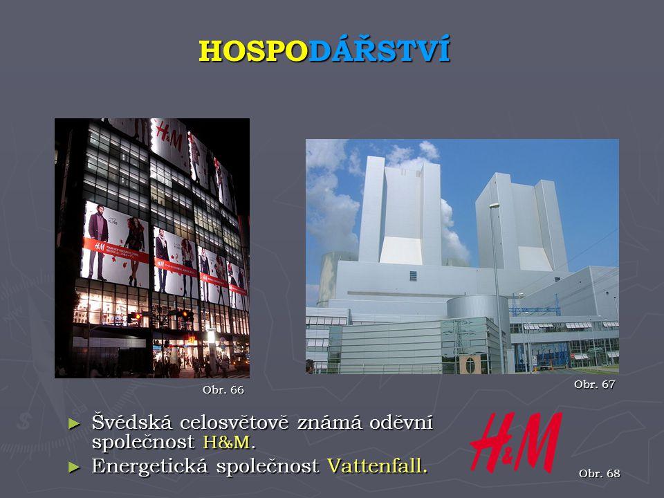 HOSPODÁŘSTVÍ Švédská celosvětově známá oděvní společnost H&M.