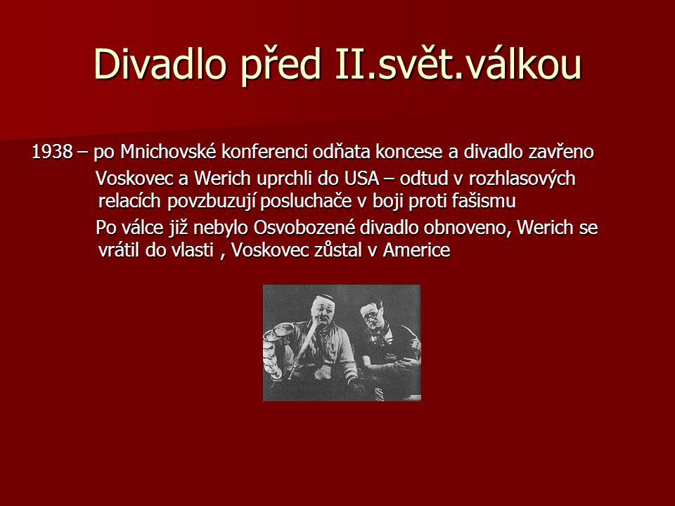Divadlo před II.svět.válkou