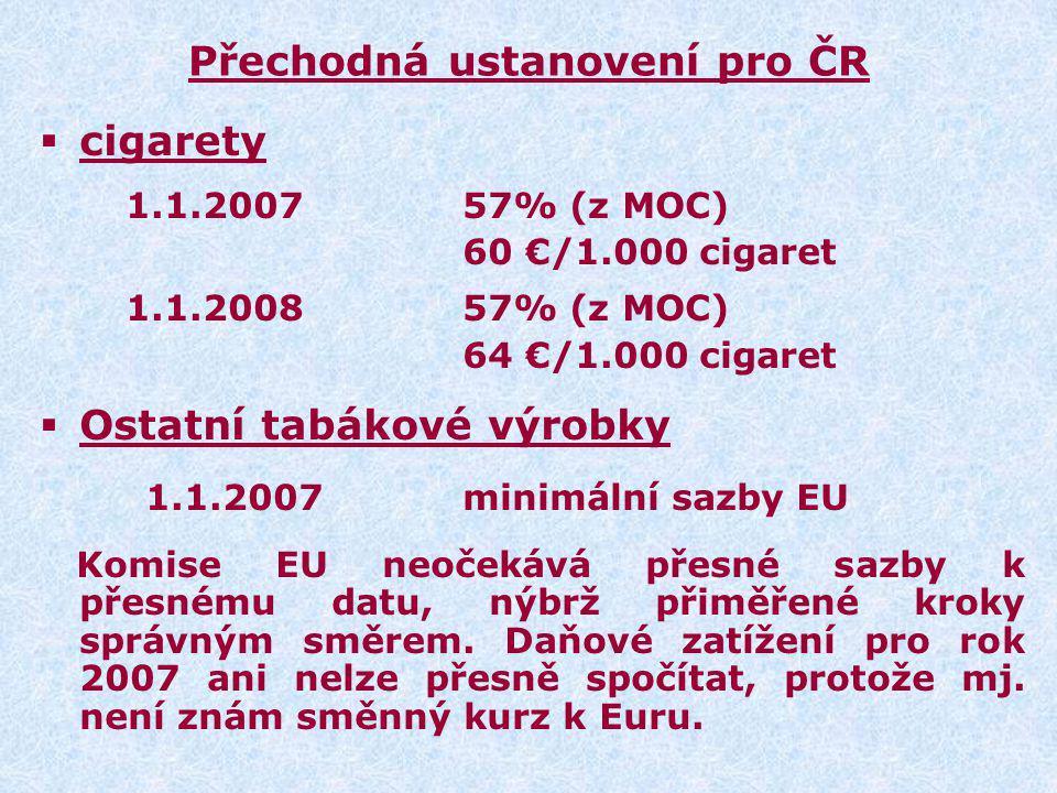 Přechodná ustanovení pro ČR
