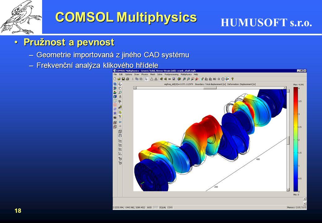 COMSOL Multiphysics Pružnost a pevnost