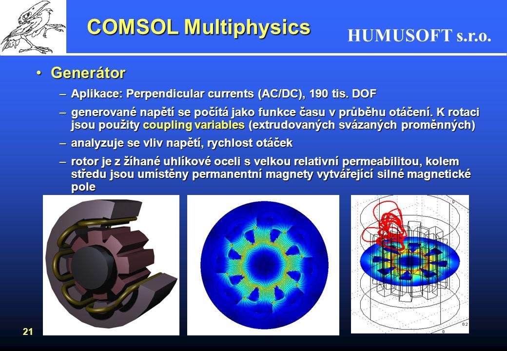COMSOL Multiphysics Generátor