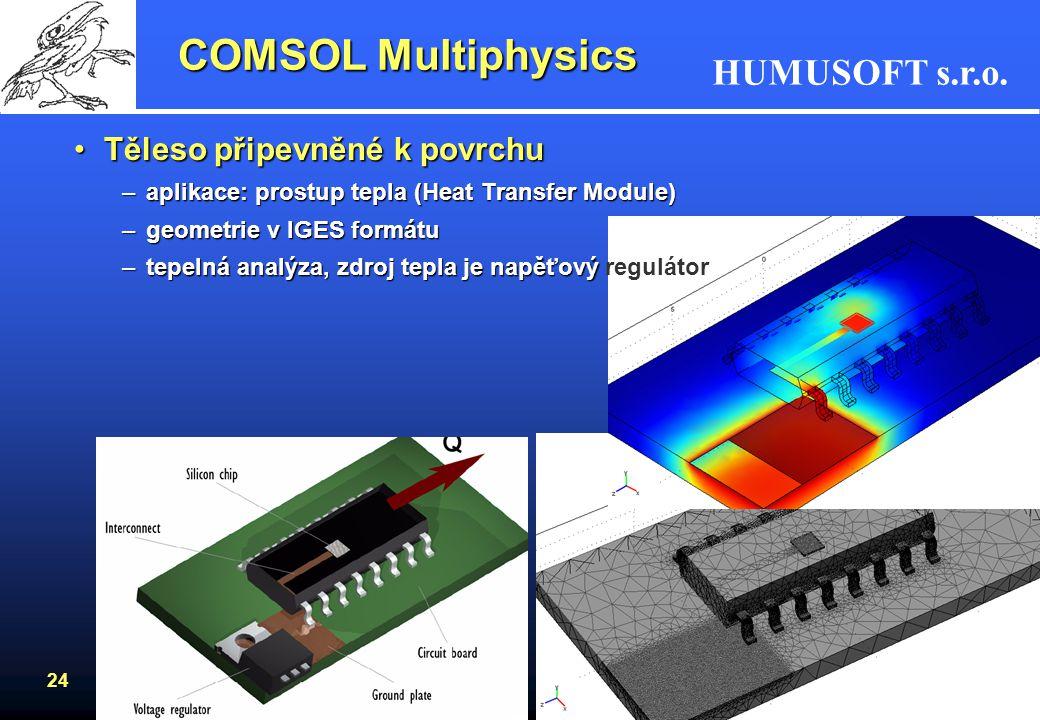 COMSOL Multiphysics Těleso připevněné k povrchu
