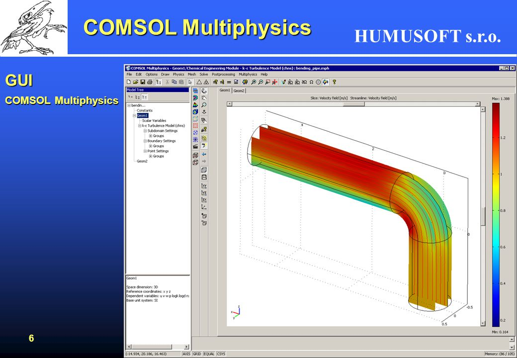 COMSOL Multiphysics GUI COMSOL Multiphysics
