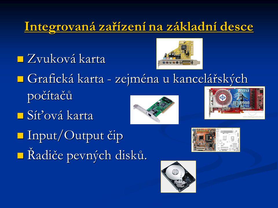 Integrovaná zařízení na základní desce