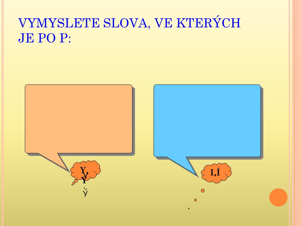 VYMYSLETE SLOVA, VE KTERÝCH JE PO P: