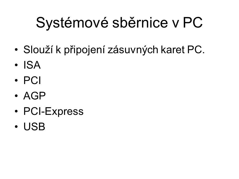 Systémové sběrnice v PC