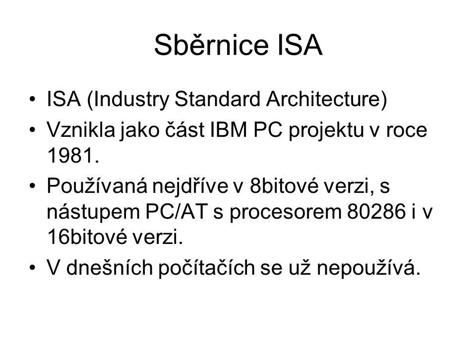 Sběrnice ISA ISA (Industry Standard Architecture)