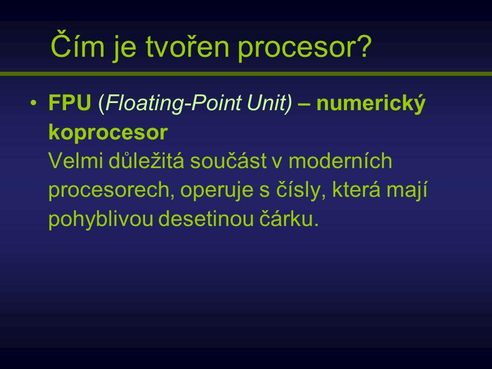 Čím je tvořen procesor