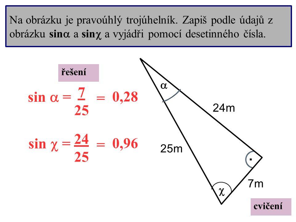 Na obrázku je pravoúhlý trojúhelník