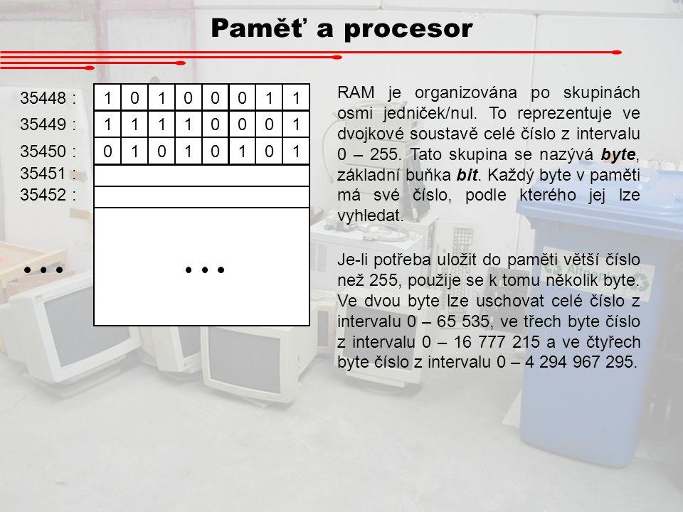 Paměť a procesor