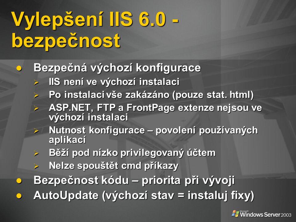 Vylepšení IIS 6.0 - bezpečnost