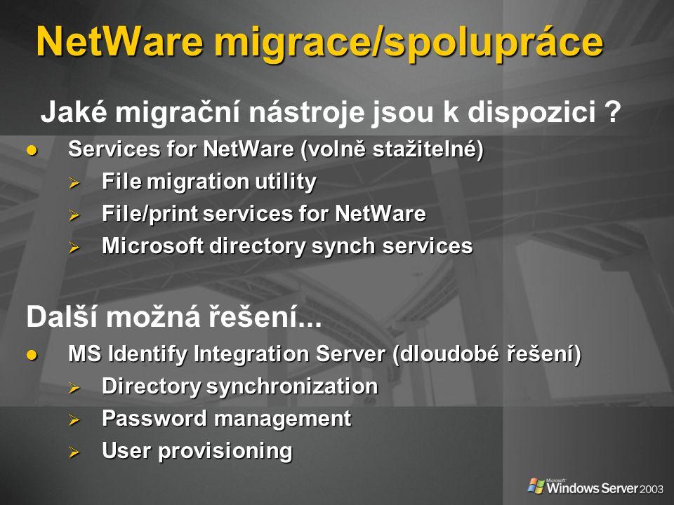 NetWare migrace/spolupráce