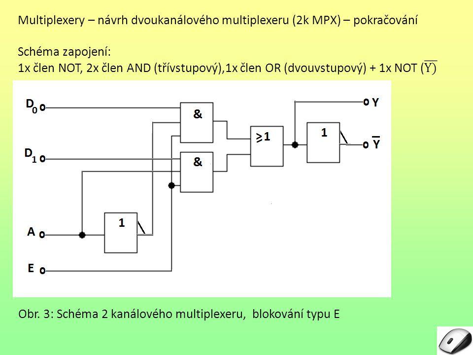 Multiplexery – návrh dvoukanálového multiplexeru (2k MPX) – pokračování