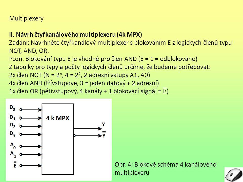 Multiplexery II. Návrh čtyřkanálového multiplexeru (4k MPX)