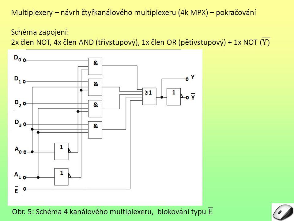 Multiplexery – návrh čtyřkanálového multiplexeru (4k MPX) – pokračování