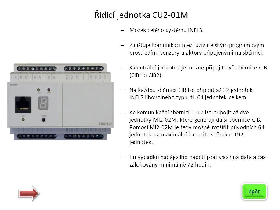 Řídící jednotka CU2-01M Mozek celého systému iNELS.