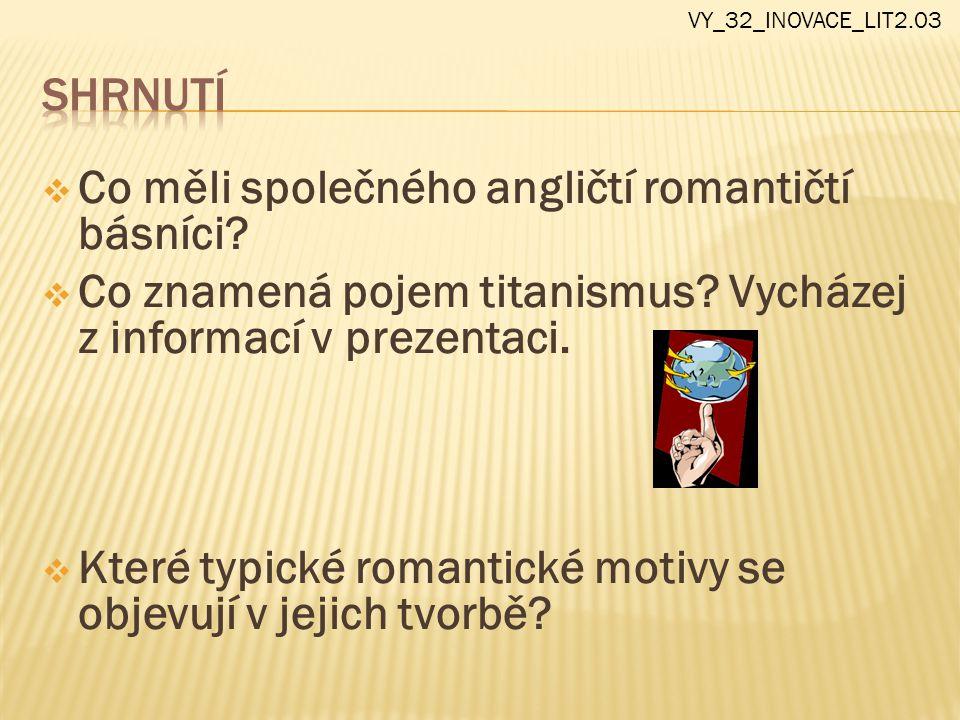 Co měli společného angličtí romantičtí básníci