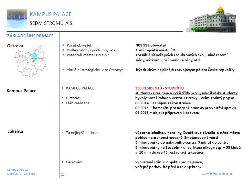 KAMPUS PALACE SEDM STROMŮ A.S. ZÁKLADNÍ INFORMACE Ostrava