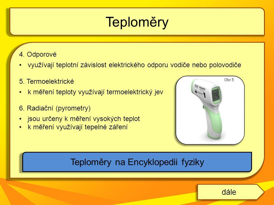 Teploměry na Encyklopedii fyziky