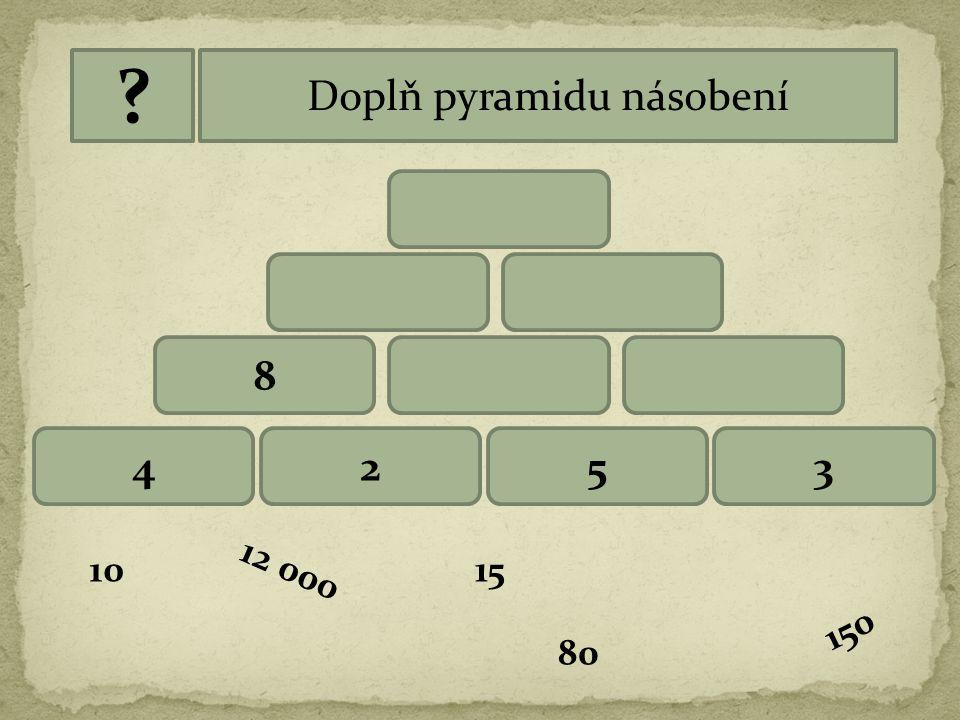 Doplň pyramidu násobení