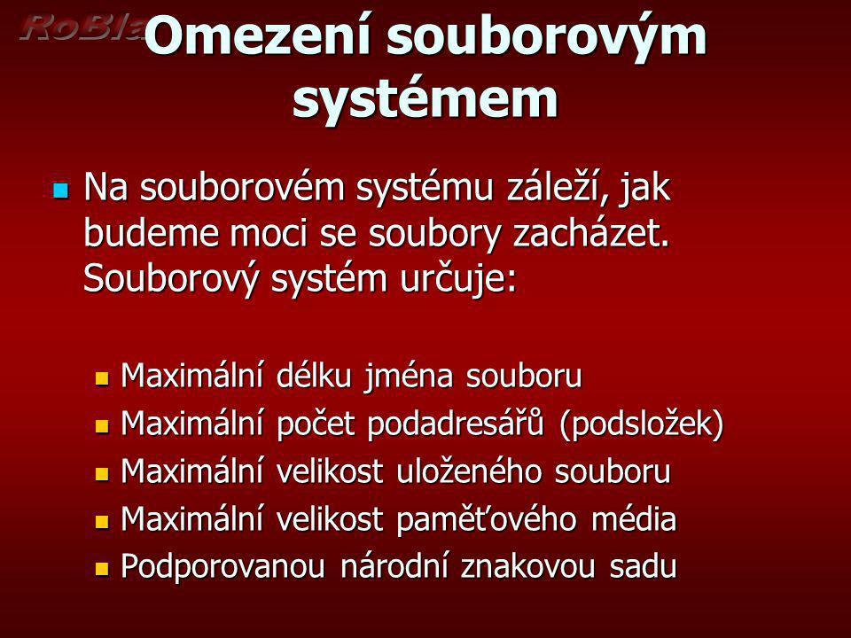 Omezení souborovým systémem