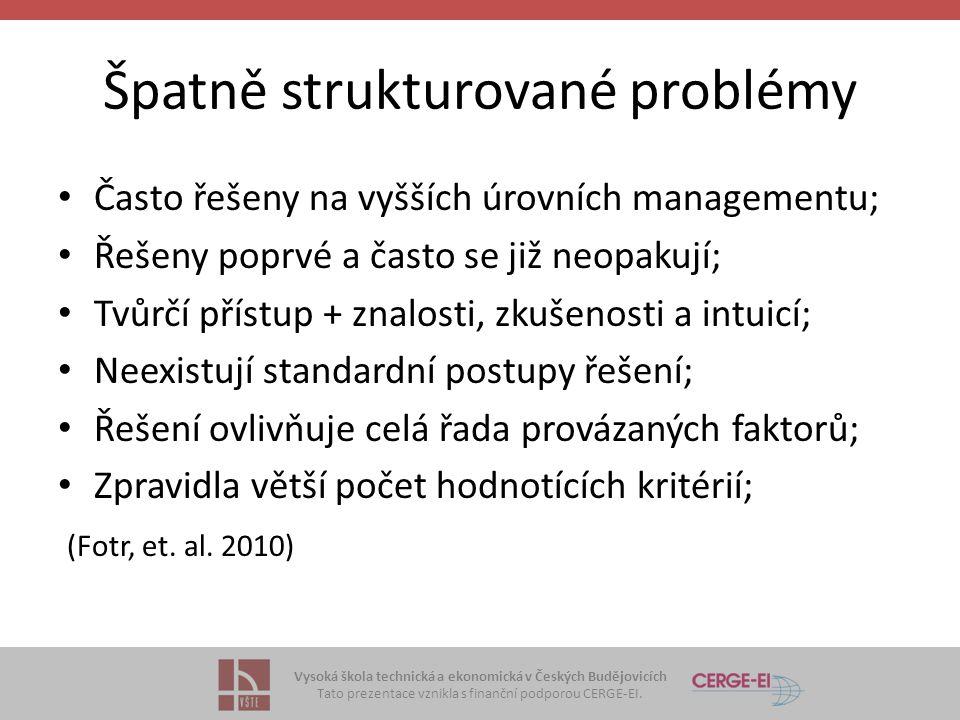 Špatně strukturované problémy