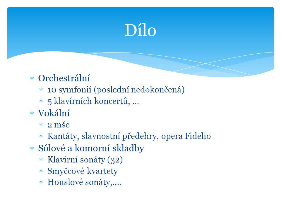 Dílo Orchestrální Vokální Sólové a komorní skladby