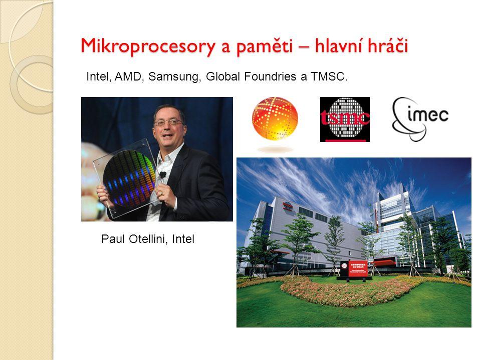 Mikroprocesory a paměti – hlavní hráči