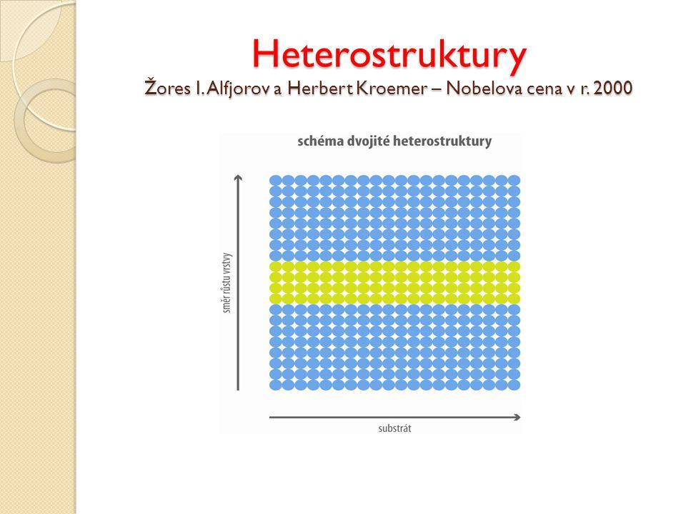 Heterostruktury Žores I. Alfjorov a Herbert Kroemer – Nobelova cena v r. 2000