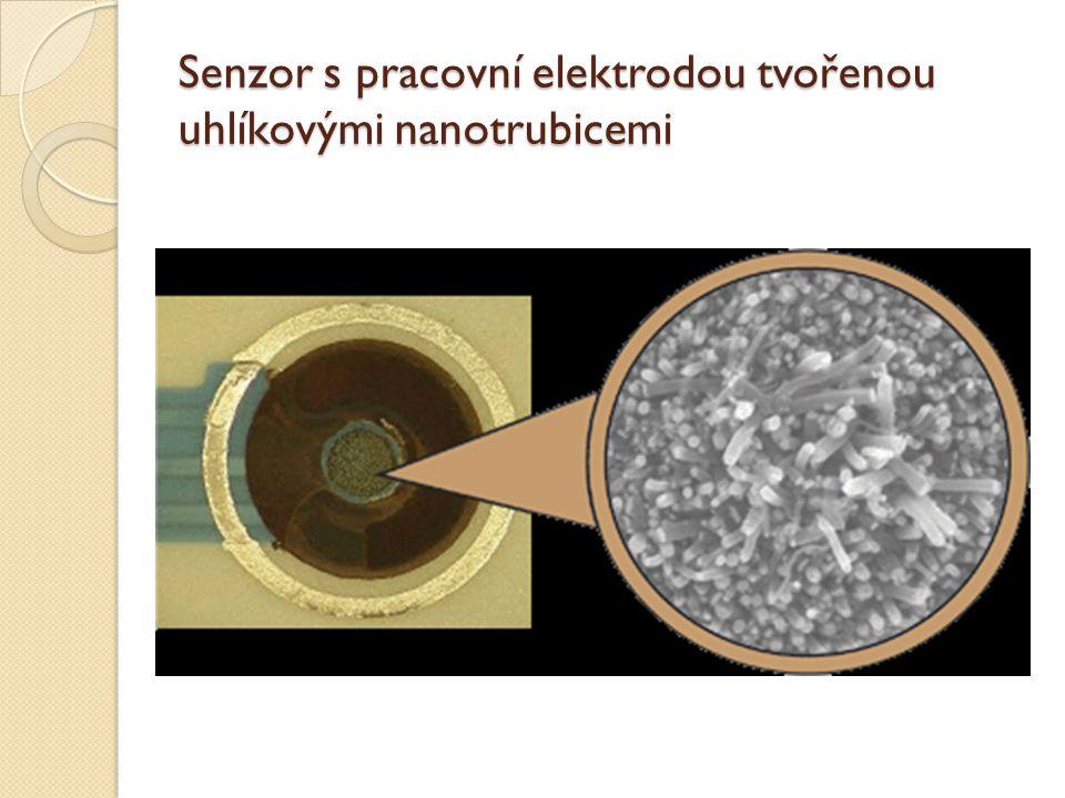 Senzor s pracovní elektrodou tvořenou uhlíkovými nanotrubicemi