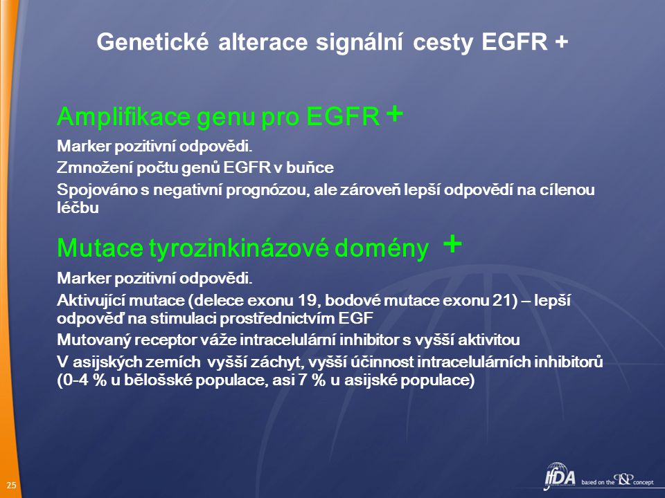 Genetické alterace signální cesty EGFR +