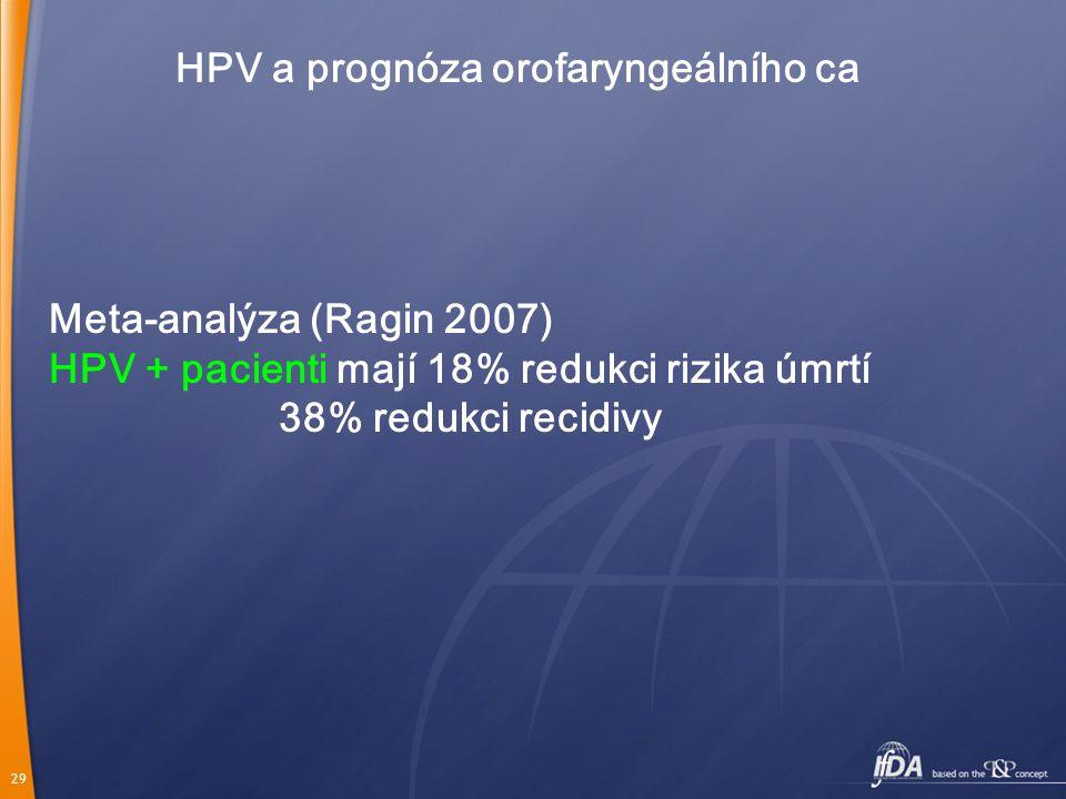 HPV a prognóza orofaryngeálního ca