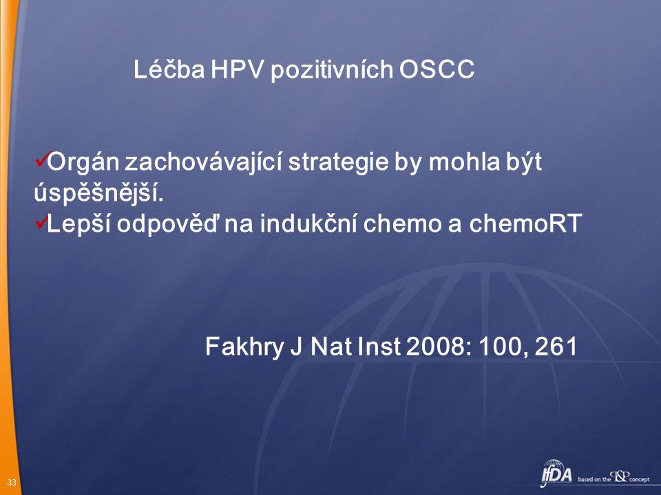 Léčba HPV pozitivních OSCC