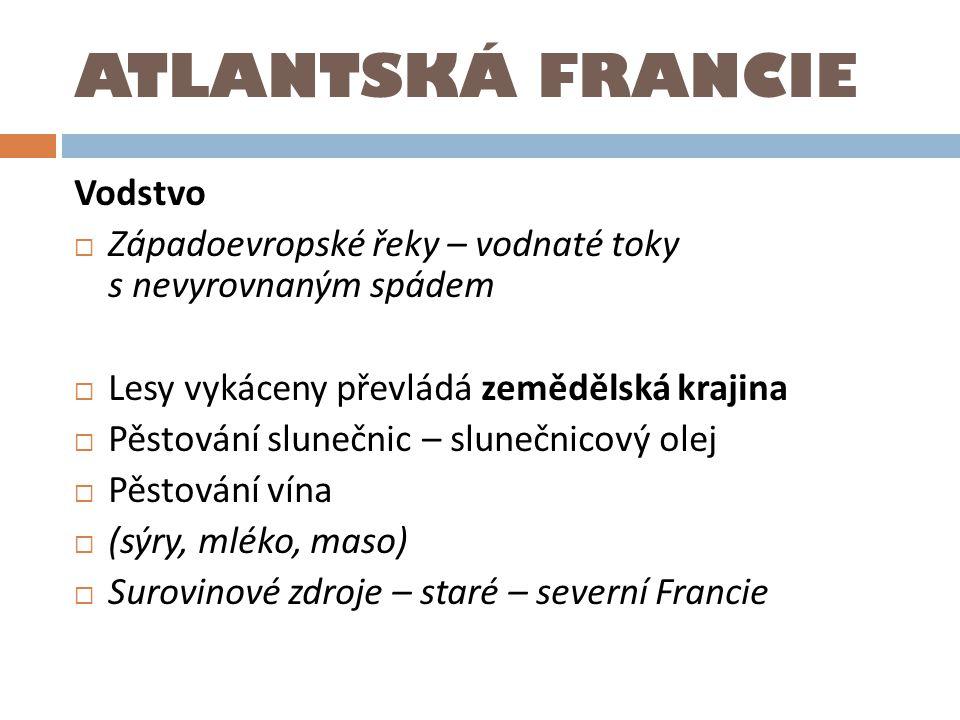 ATLANTSKÁ FRANCIE Vodstvo