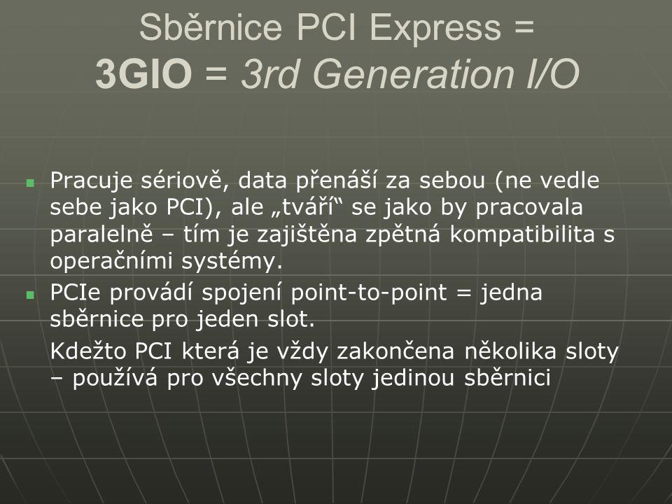 Sběrnice PCI Express = 3GIO = 3rd Generation I/O